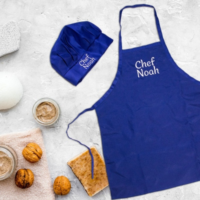 Custom Chef Apron and Hat Set for Children