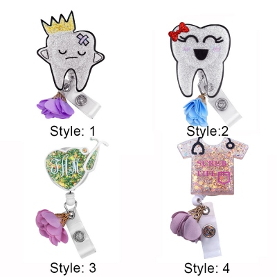 Personalized Dental Tooth Badge Reel