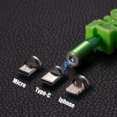 Personalized 3D Printed Name LED Flash USB Cable