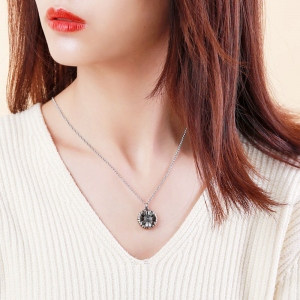 Personalized Sunflower Locket Necklace