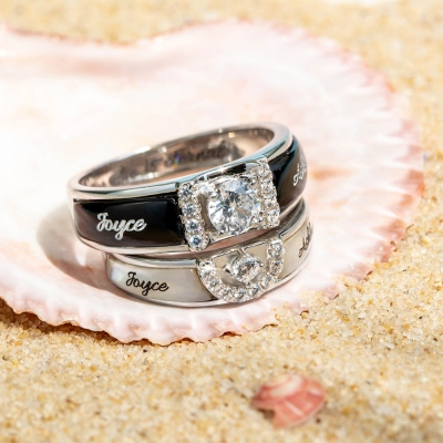 Customized Couple Rings Engagement Ring Promise Ring