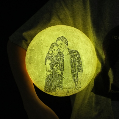 Custom 3D Printing Moon Lamp with Remote Touch Control