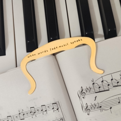 Personalized Music Page Holder Book Clip