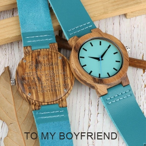 Engraved Wooden Watch for Men