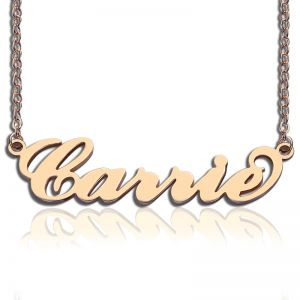 Personalized Rose Gold Carrie Name Necklace