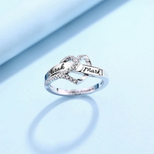 Customized Heart CZ Ring 1