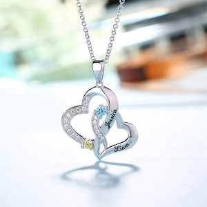 love heart necklace for couples