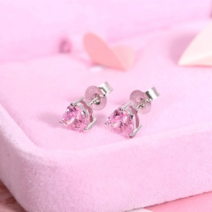 Heart Birthstone Earrings
