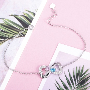customized heart bracelet