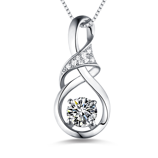 Customized Infinity Birthstone Necklace In Silver