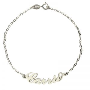 Personalized Sterling Silver Carrie Name Bracelet