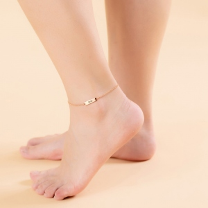 Personalized Bar Anklet Initial Anklet Heart Anklet