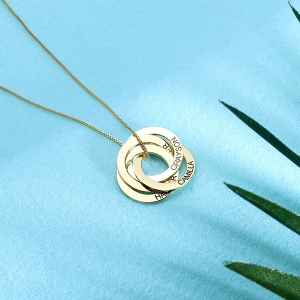intertwined circles necklace