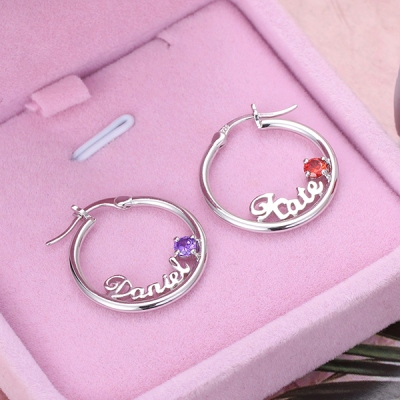 name earrings