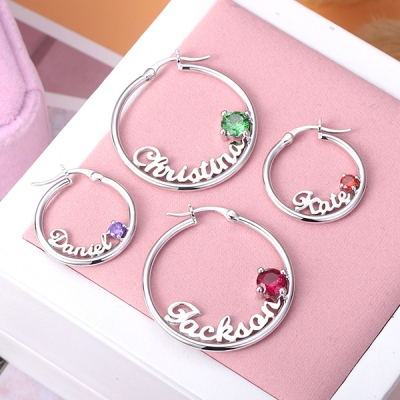 name birthstone earrings