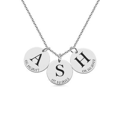 initial date necklace