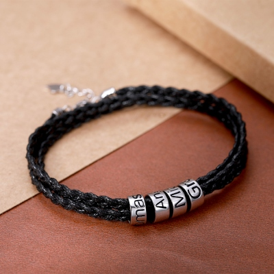 personalized braid bracelet