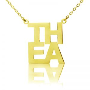 Gold Plated Silver Letter Name Necklace