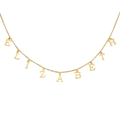 Personalized Name Choker in Gold