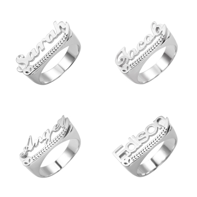 Personalized Plated Name Ring