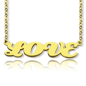 Gold Capital Letters Name Necklace Personalized