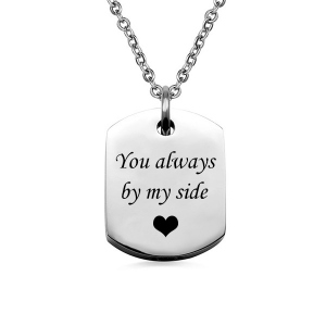 Engrave Stainless Steel Square Cremation Urn Necklace