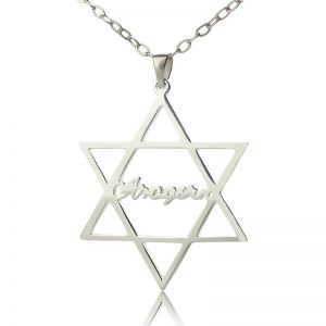 Sterling Silver Hexagram Name Necklace