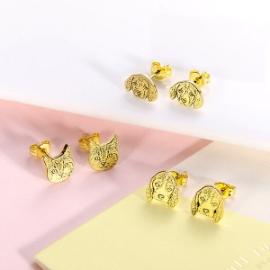 picture stud earrings