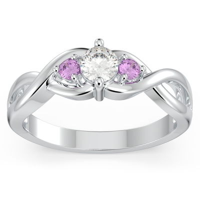 Infinity 3-Stone Promise Ring