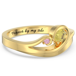 Swirling Promise Ring