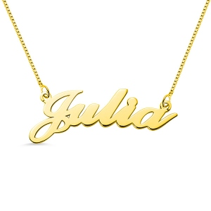 A Stunning and Dazzling Necklace-Personalized Classic Name Necklace in 18k Gold Plated