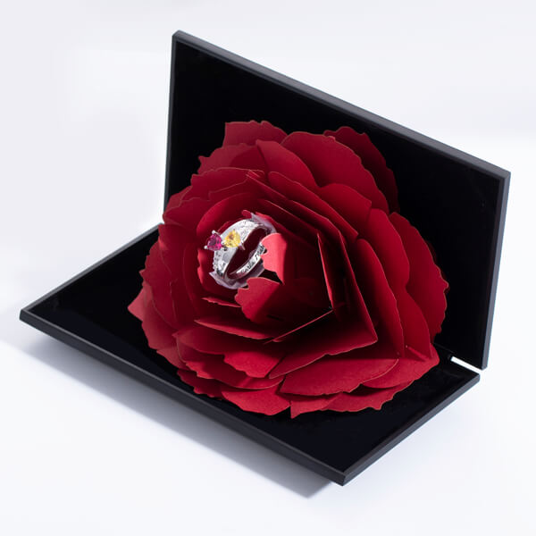 bacdbdb14d Personalized Engraved Double Heart Birthstone Promise Ring with Rose Ring  Box. $ 79.90 $ 39.95