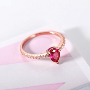 Drop-shaped ring