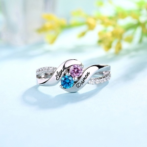 Marquise Shaped Birthstone Ring
