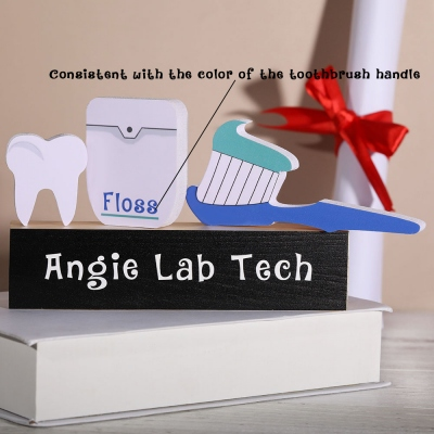 Personalized Dental Gift Wooden Block Set