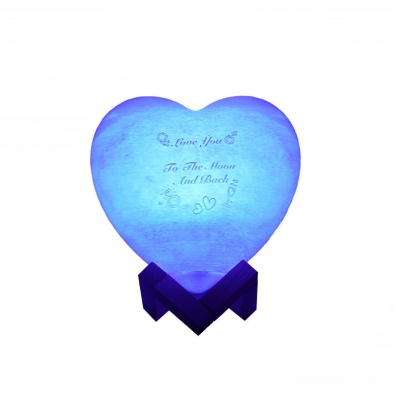Personalized Heart Photo 3D Night Light with Remote