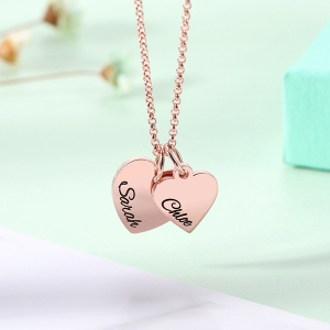 necklace with heart shaped charm