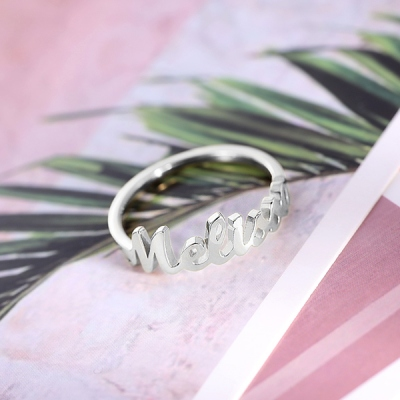 single name ring