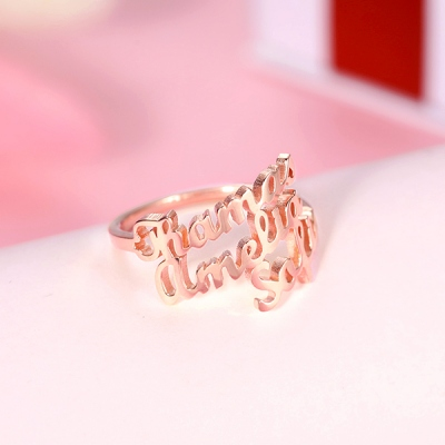 customized families name ring