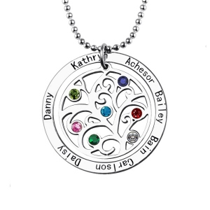 Personalized Birthstone Name Necklace for Nana