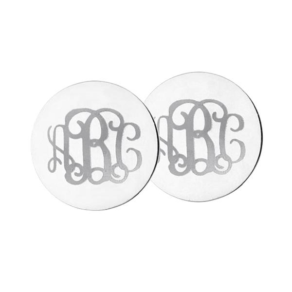 c5851d46b Engraved Disc Monogram Stud Earrings Sterling Silver. $ 44.99 $ 35.99