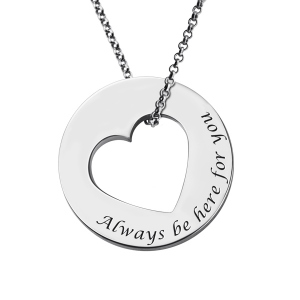 Personalized Promise Necklace For Her Sterling Silver