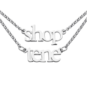 Sterling Silver Double Layer Mini 2 Names Necklace