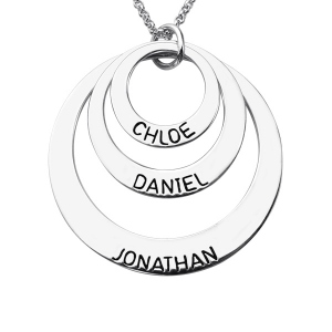 Personalized Three Disc Memory Necklaces