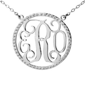 Custom Circle of Life Neckalce with Monograms
