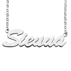 Special Designed Hot-Selling Sterling Silver Sienna Style Name Necklace