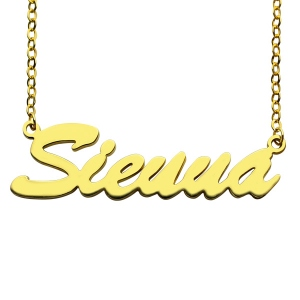 Charming Gold Personalized Name Necklace