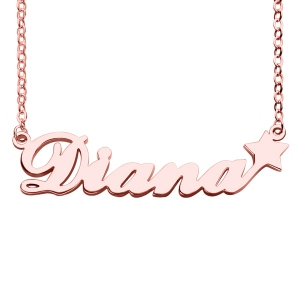 Rose Gold Stylish Sex And The City With Star Name Necklace