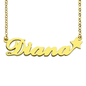 "Customize Your Own Name Necklace ""Carrie"""