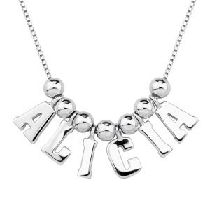 Personalized Letters & Name Necklace Sterling Silver